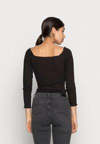 Missguided - LETTUCE HEM BARDOT BODYSUIT 2 PACK - Top sdlouhým rukávem - grey/black - 2