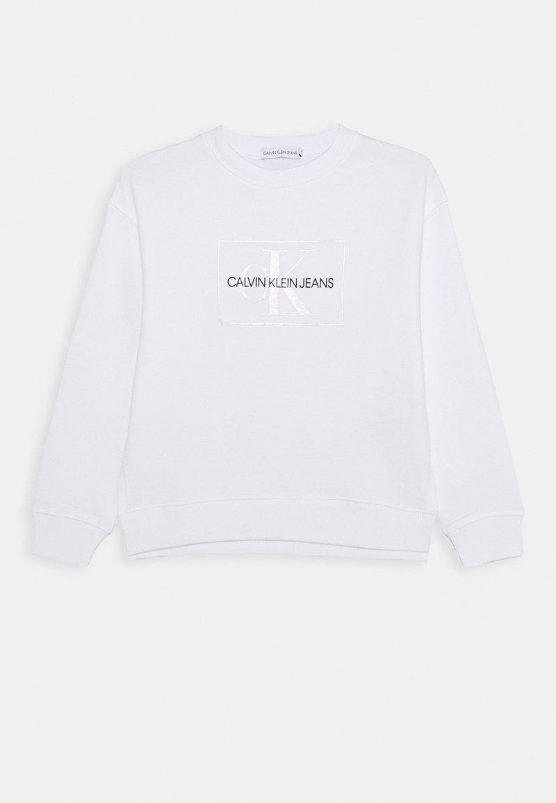 Calvin Klein Jeans - SMALL MONOGRAM  - Mikina - white