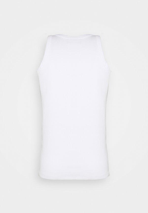 Calvin Klein Jeans MICRO BRANDING TANK - Top - bright white/biały Odzież Męska IPAO
