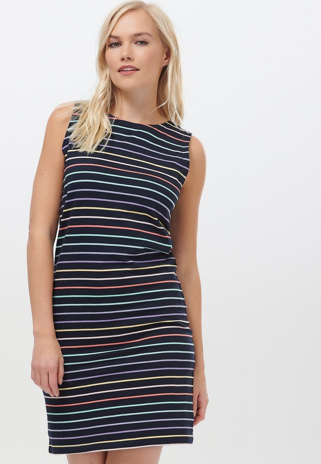 HANOVER PASTEL RAINBOW - Jersey dress - black