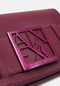Armani Exchange - SMALL CROSS BODY - Across body bag - bordeaux - 3