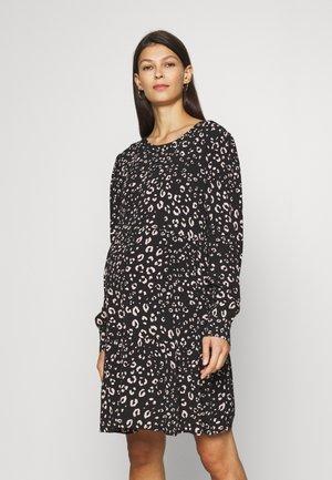 PEARLA - Day dress - black/pink