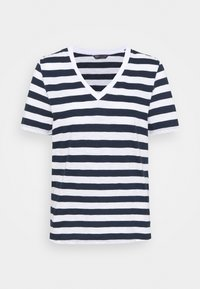 SLUB - Print T-shirt - dark blue