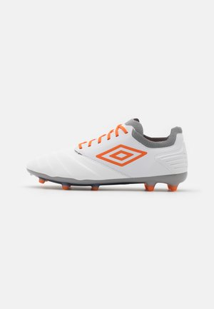 TOCCO PRO FG - Moulded stud football boots - white/carrot/frost gray