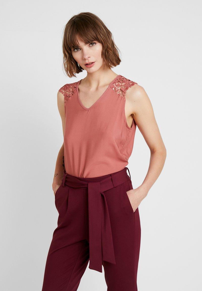 Vero Moda - VMDEPO V NECK INSERT - Bluse - withered rose