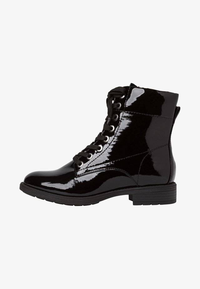 STIEFELETTE - Veterboots - black patent