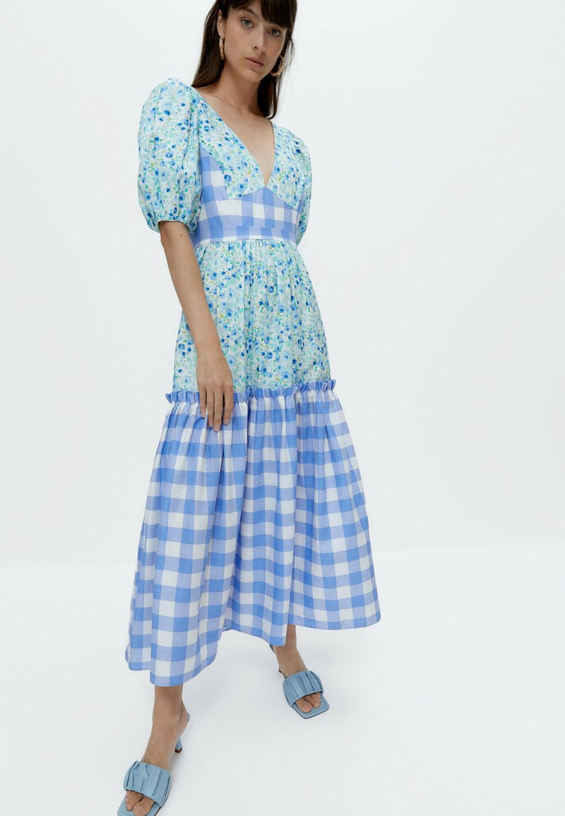 Uterqüe - Day dress - blue