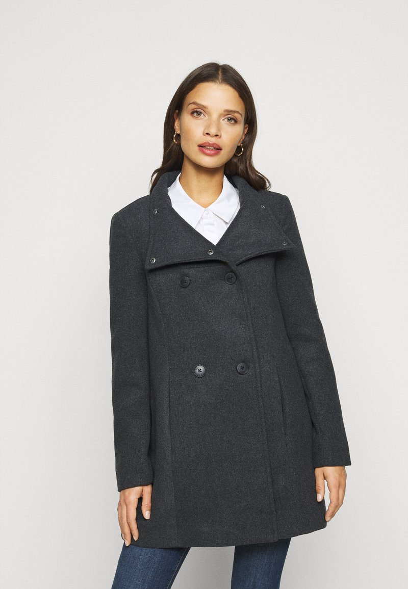 Vero Moda Petite - VMCLASSLINE JACKET - Manteau classique - dark grey melange