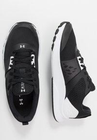 Under Armour - TRIBASE EDGE TRAINER - Obuwie treningowe - black/white/halo gray - 1