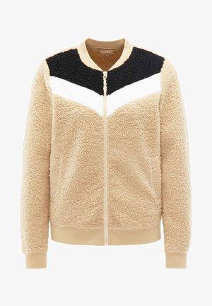 Kurtka z polaru - beige cream black