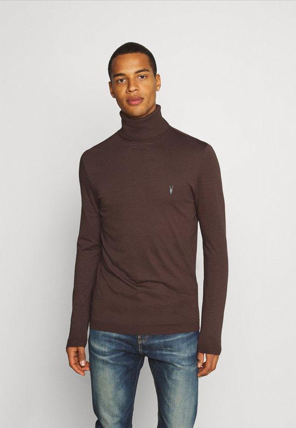 AllSaints PARLOUR ROLL NECK - Bluzka z długim rękawem - currant red/czerwony Odzież Męska TMHG