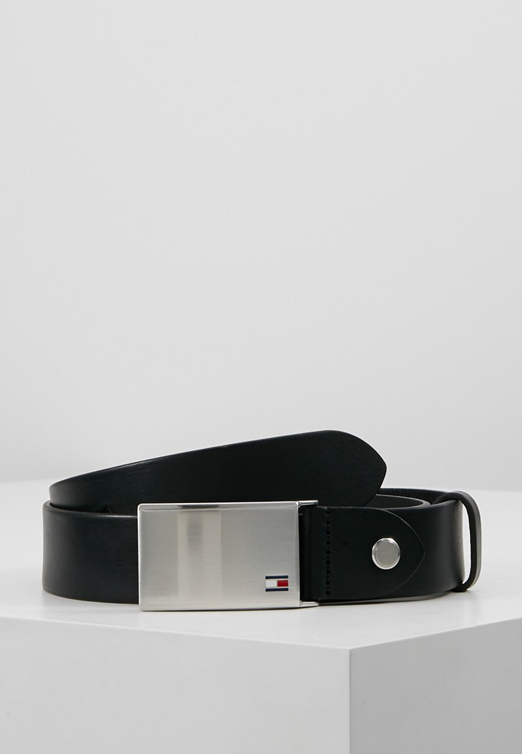 Tommy Hilfiger - PLAQUE BELT - Belt business - black