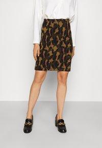 Diane von Furstenberg - LORNA SKIRT - Mini skirt - giant cocoa brown - 0