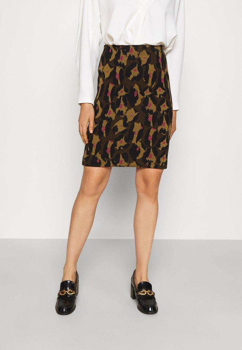 Diane von Furstenberg - LORNA SKIRT - Mini skirt - giant cocoa brown