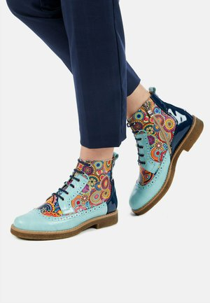 Signature - Lace-up ankle boots - blue