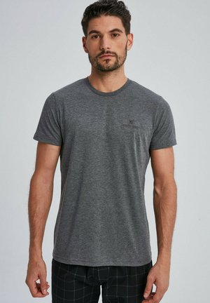 CARLEN - Basic T-shirt - anthrazit