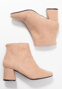 Miss Selfridge Wide Fit - WIDE FIT BRIXTON ZIP BACK SQUARE TOE - Ankle boots - nude - 3