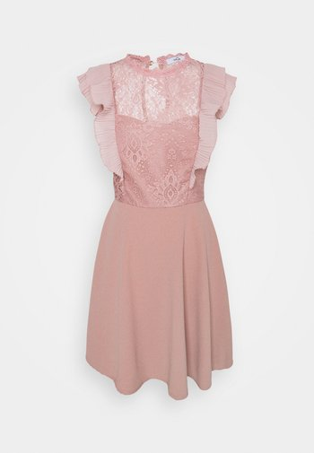 HUMERA LACE SKATER DRESS - Vestito di maglina - blush pink