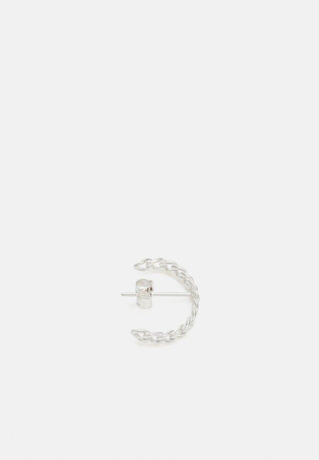 ELSA HALF HOOP SMALL CHAIN - Earrings - silver