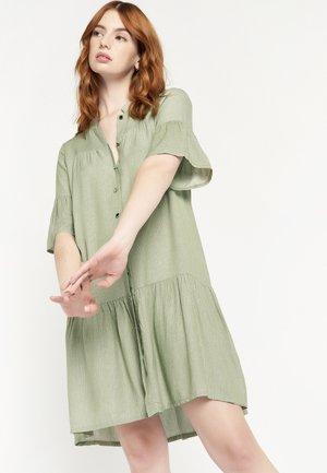 Shirt dress - khaki
