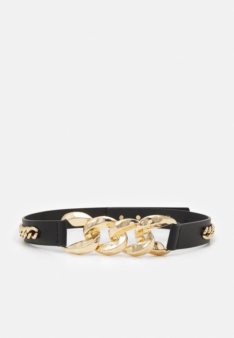 Pieces - PCKASHI WAIST BELT - Waist belt - black/gold
