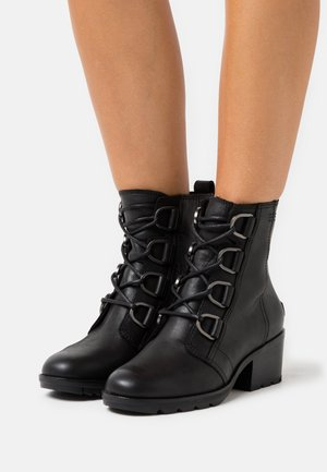 CATE LACE - Lace-up ankle boots - black