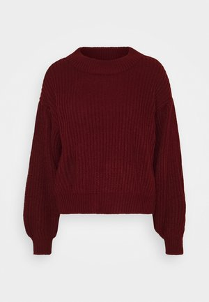 VMFURN LS BALLOON O-NECK  - Jumper - cabernet