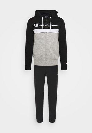 HOODED FULL ZIP SUIT - Träningsset - grey/black