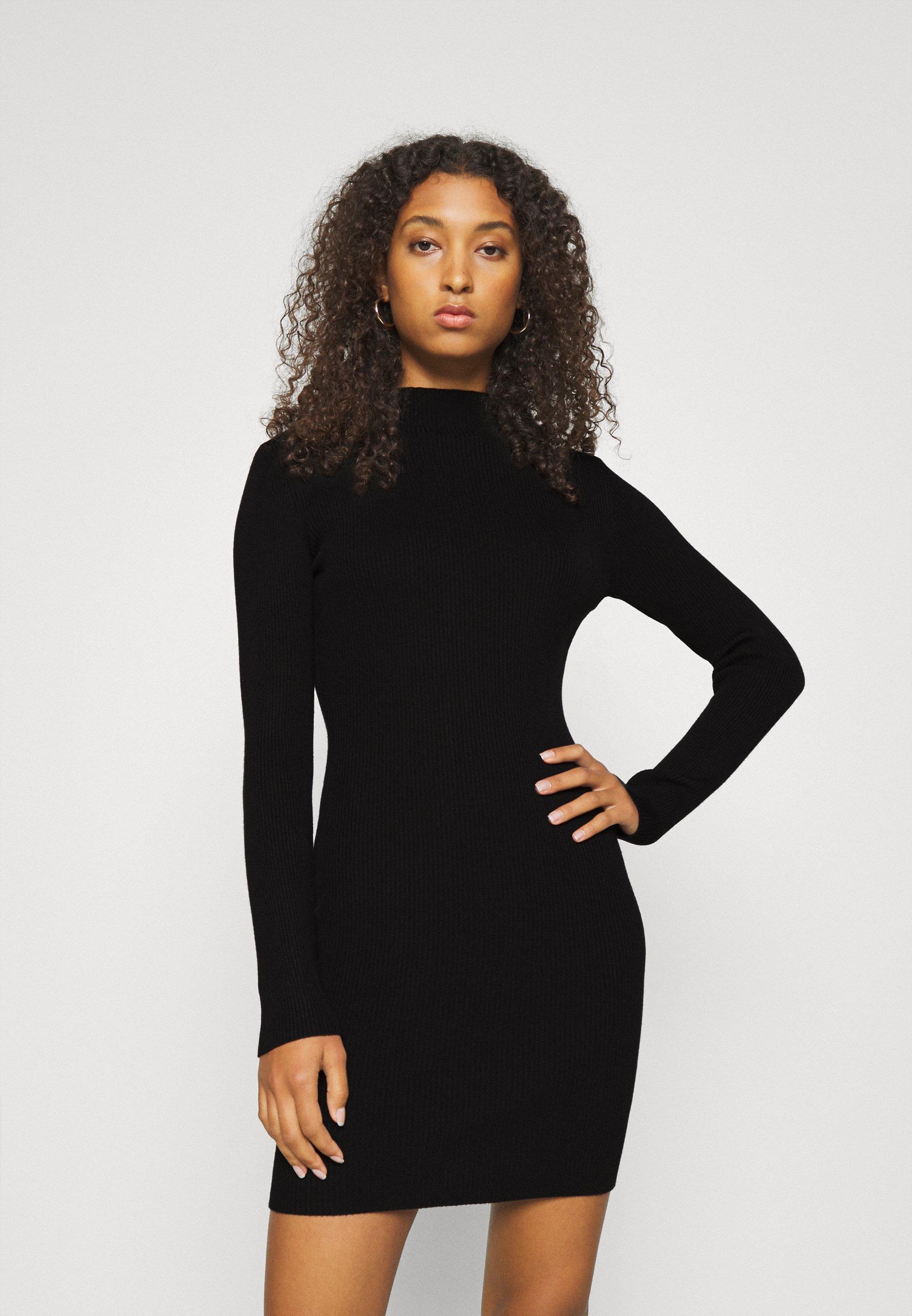 Women HIGH NECK MINI DRESS - Jumper dress
