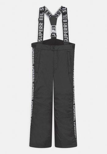 SPARK UNISEX - Snow pants - black