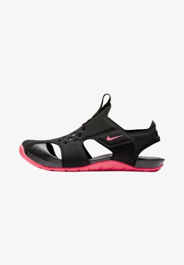 SUNRAY PROTECT 2 UNISEX - Rantasandaalit - black/racer pink