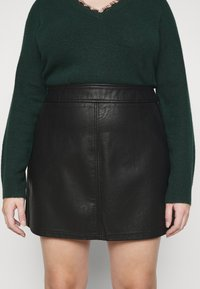 Dorothy Perkins Curve - SKIRT - Mini skirt - black - 5