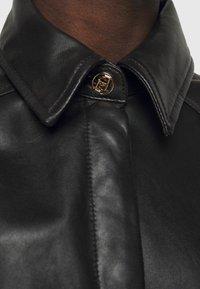 LIU JO - GIACCA CAMICIA - Leather jacket - nero - 6