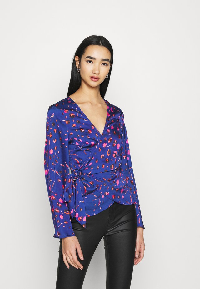 SPLICE FLORAL WRAP TOP - Pusero - multi