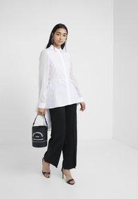 KARL LAGERFELD - POPLIN PEPLUM - Button-down blouse - white - 1