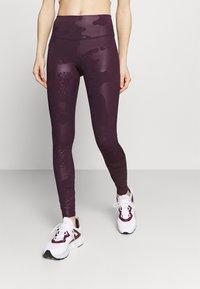 Under Armour - RUSH TONAL LEG  - Legginsy - polaris purple - 0