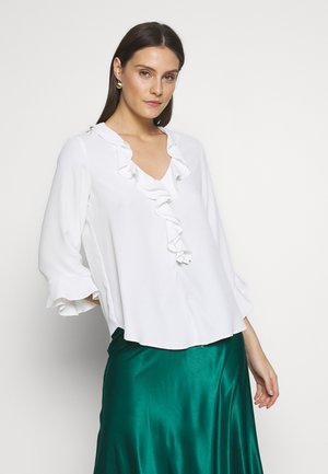 PLAIN RUFFLE  - Blus - cream