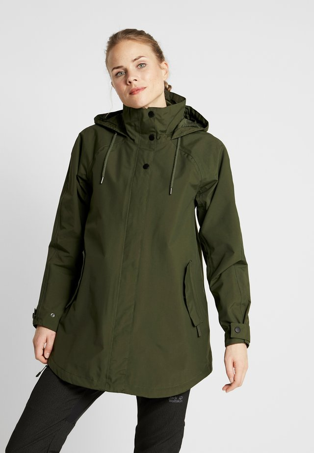 VALENTIA RAINCOAT - Outdoorjas - forest night