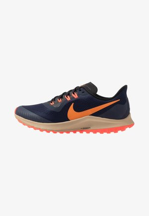 AIR ZOOM PEGASUS 36  - Trail running shoes - obsidian/magma orange/black/laser crimson/khaki