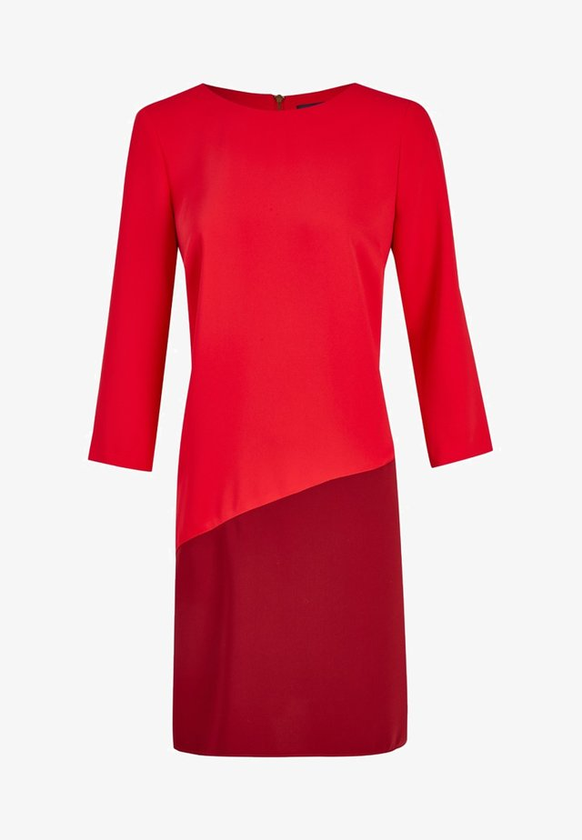 MIT FARBKONTRAST - Day dress - red