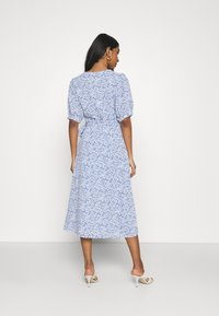Glamorous - WRAP AROUND MIDI DRESS WITH TIE DETAIL AND SLEEVES - Day dress - blue - 2