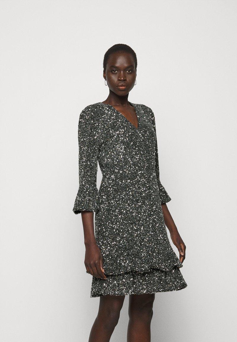 MICHAEL Michael Kors - RUFFLE MINI  - Cocktail dress / Party dress - silver-coloured