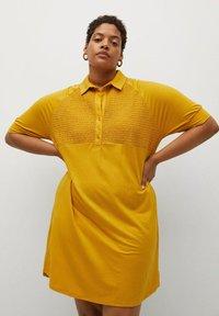 Violeta by Mango - CAMILO - Shirt dress - senfgelb - 0