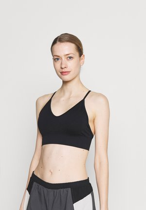 LIFESTYLE SEAMLESS V NECK  - Light support sports bra - black