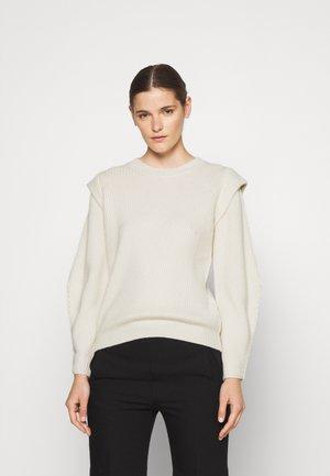 TREND SHOULDER - Stickad tröja - white