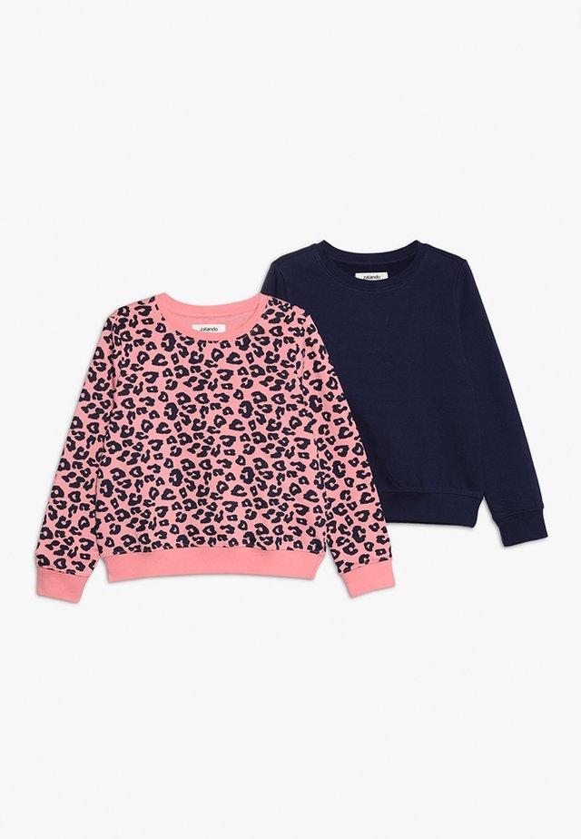 2 PACK  - Sweatshirt - peacoat/pink