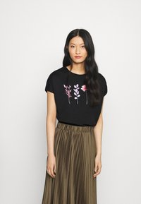 Anna Field - T-shirt imprimé - black - 0