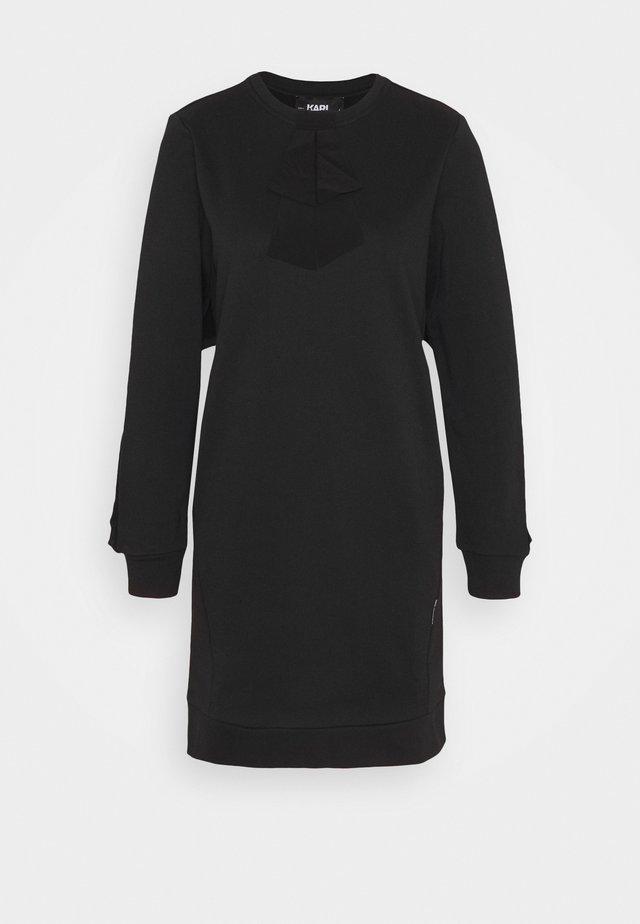 BOW RUFFLE  - Robe d'été -  black