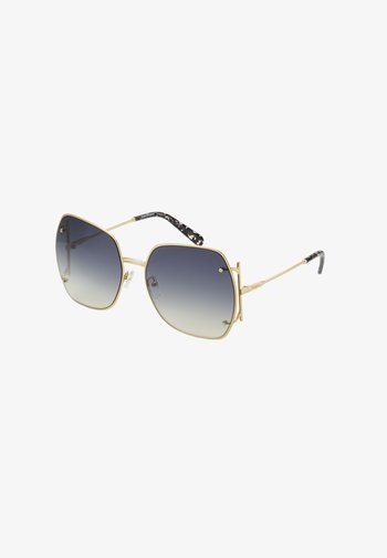 Sunglasses - gold-coloured/grey gradient flash