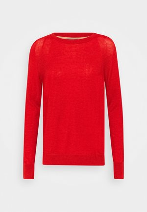 ROUND NECK - Jumper - molten lava red